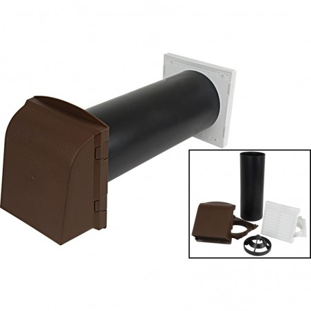"""5"""" Core Drill Vent Kit Brown"""